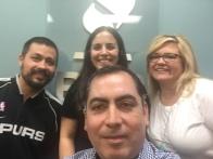 Con la VP de Operaciones de BBB de Central Texas, Tiffen Eshpeter, y su gran equipo Chelsea y John.