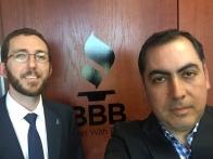 Con el VP de Operaciones de BBB San Diego, Michael Sedio.