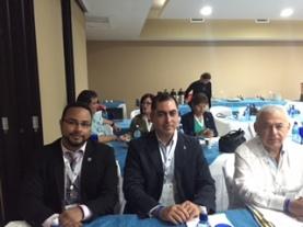Con Roberto Rojas, Jefe del Área de Alertas Rápidas de la OEA, y el Mtro. Carlos Ponce Beltrán, Subprocurador de Telecomunicaciones de la Profeco.
